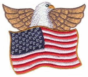 american flags clipart with eagle
