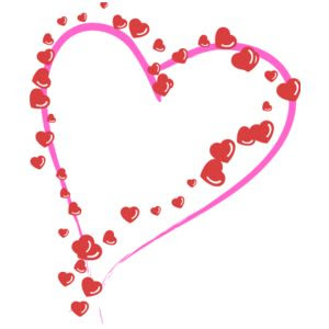 صور قلوب متحركة Heart-picture-border-with+small-hearts