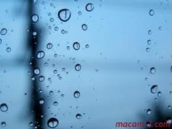 Hujan, dari pandangan tingkap.