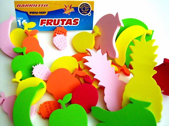 Patrones de frutas en foami para la nevera - Imagui