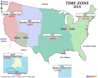 Time Zones and Area Codes ICANetwork A Mobile Internet Business