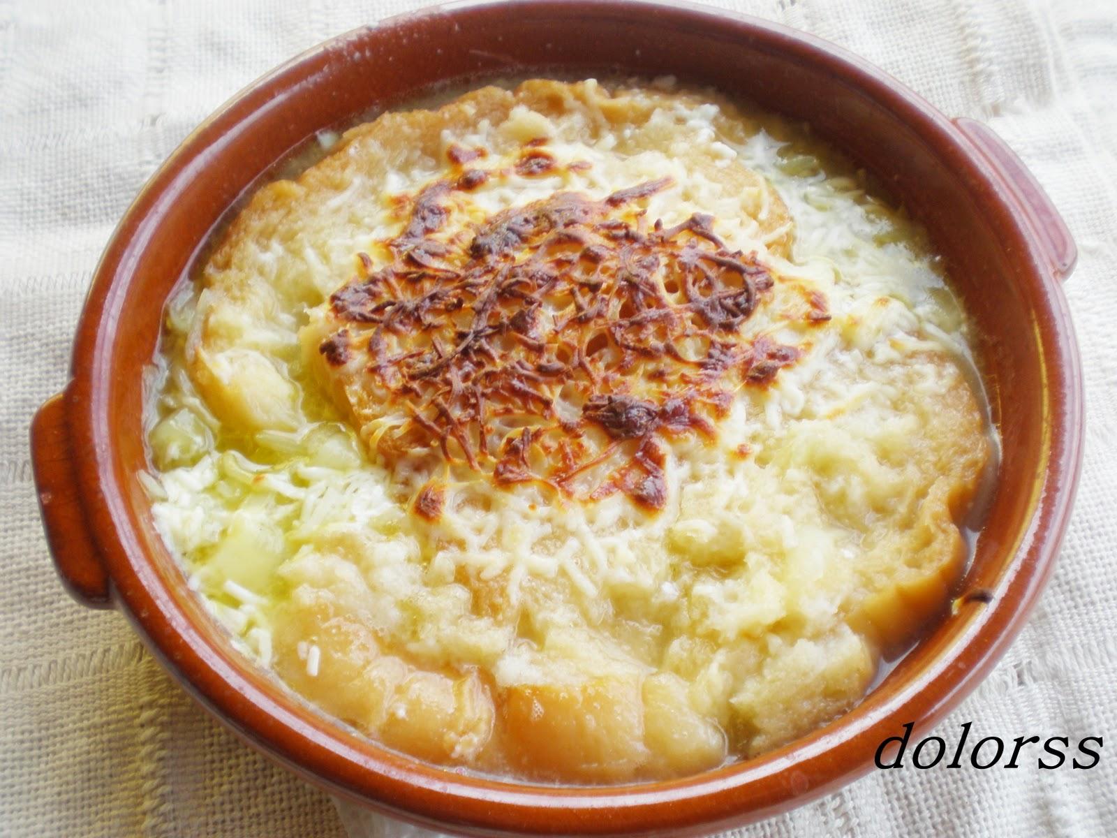 Blog de cuina de la dolorss: Sopa de cebolla con huevo