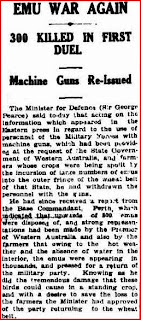 Article from Canberra Times, 12 November 1932