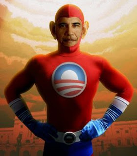 fatigued fake nimrod obama super hero