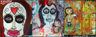 Images of painting day of the dead of
