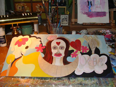 Day of the Dead painting work in progress