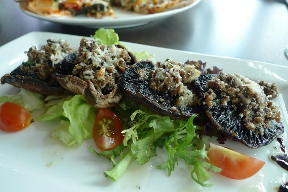 Portobello Mushrooms With Parmesan-Herb Stuffing Recipe — Dishmaps