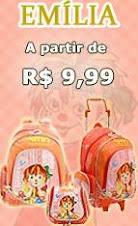 Produtos escolares da Emília