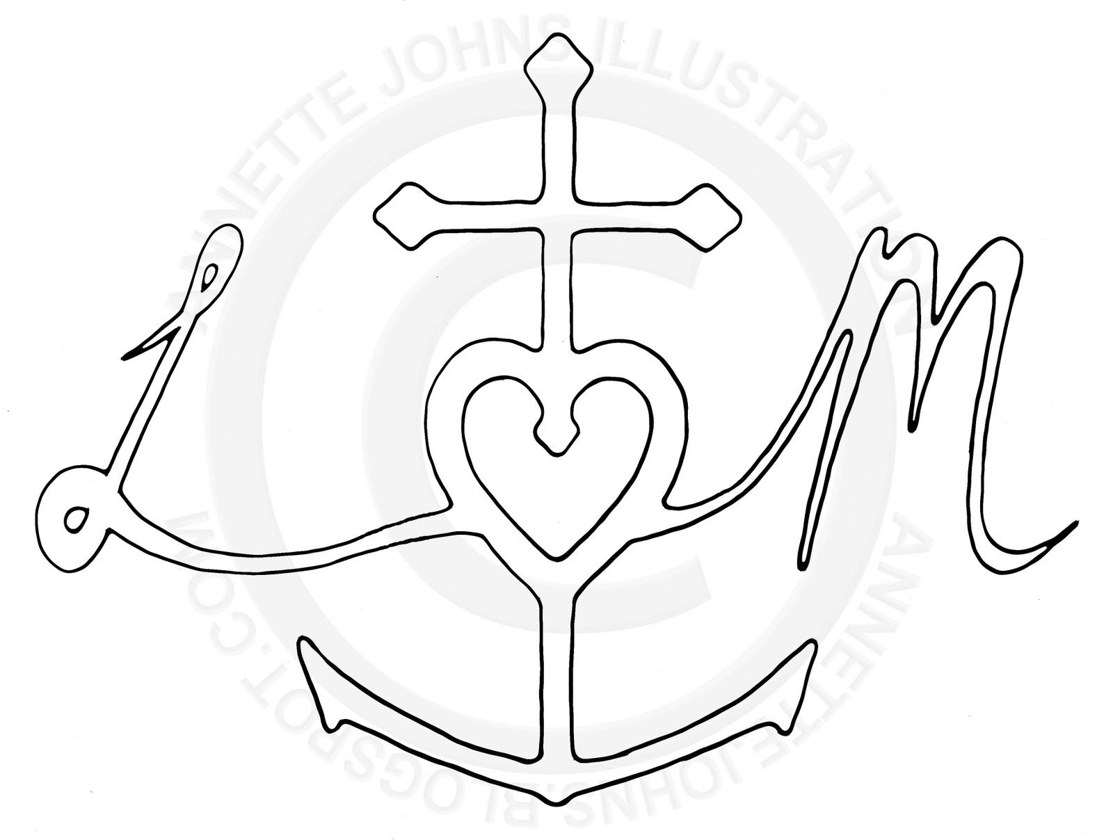 Anchor Heart Drawing Anchor For Hope And Heart