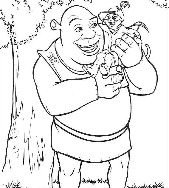 pelis de manu: Shrek para colorear 2