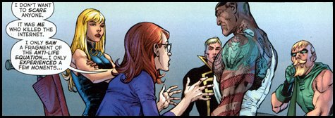 The untainted become acquainted in the Watchtower in FINAL CRISIS #4!