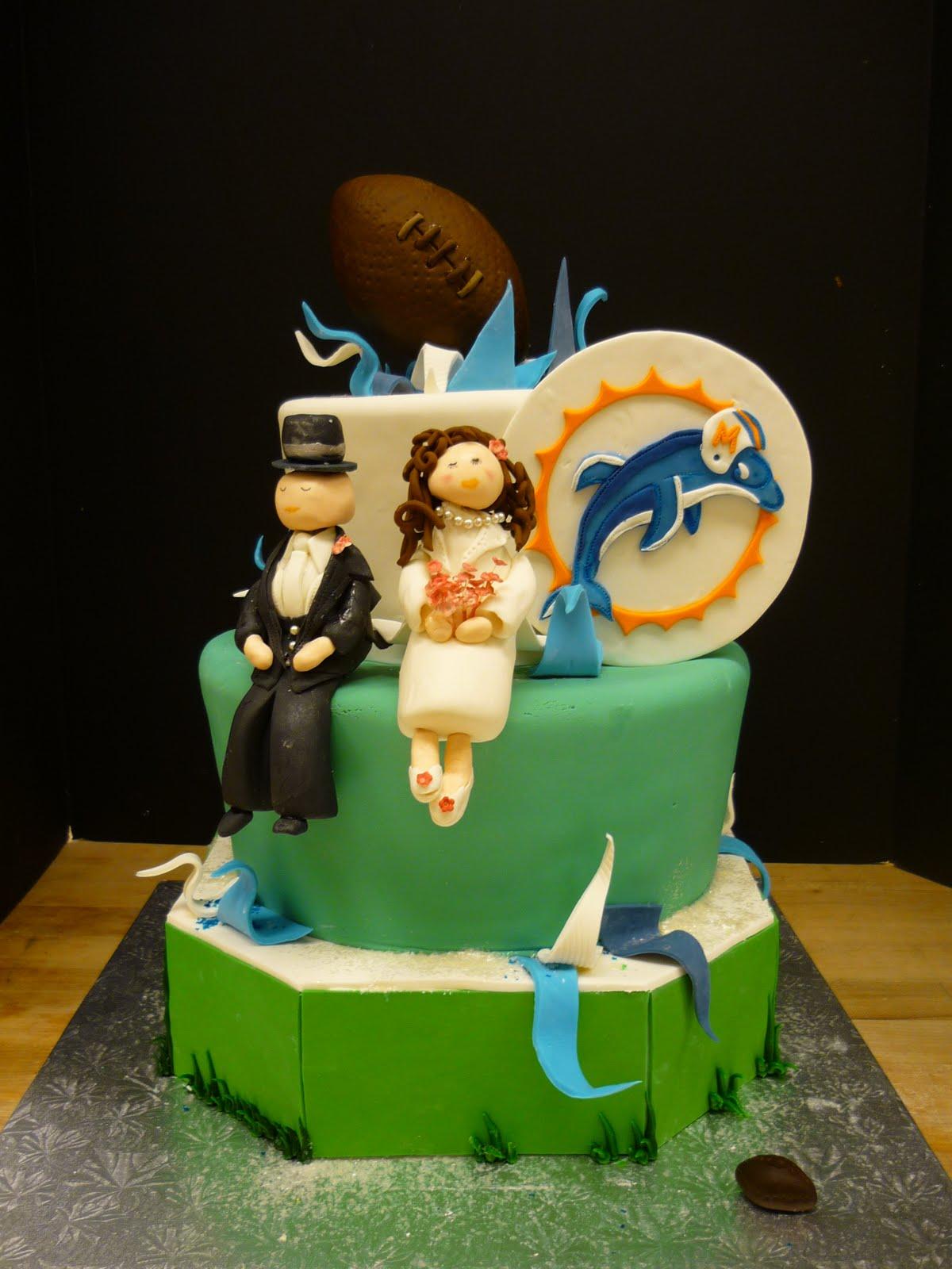 artisan bake shop grooms cake miami dophins whimsical. Black Bedroom Furniture Sets. Home Design Ideas