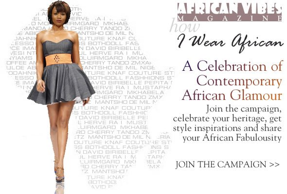 The ''I Wear African'' Campaign with African Vibes Magazine (click on the picture to check me out)