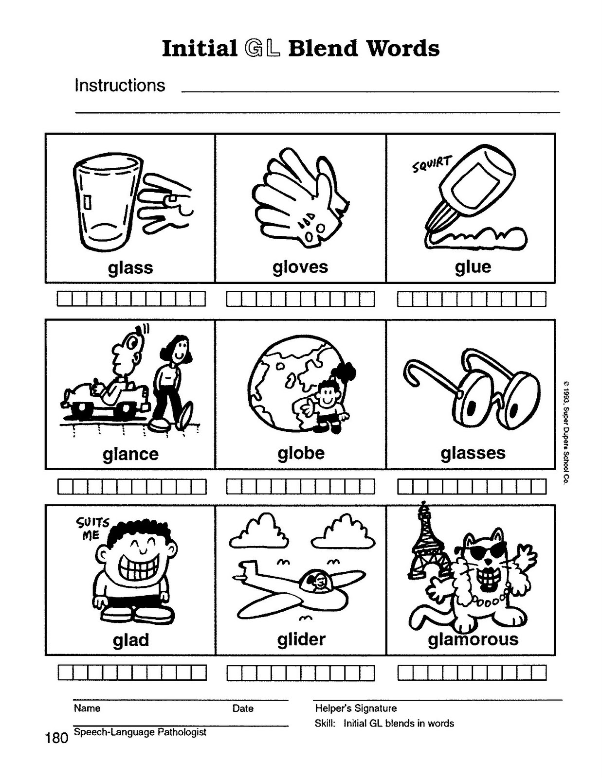 Worksheets Blends Printable Worksheets speech therapy with miss nicole l blend words words