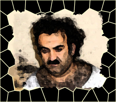 modified image of what khalid sheikh mohammed looked like after interrogation