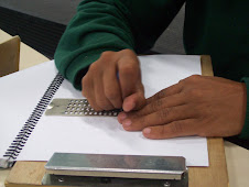 Uso da reglete em sala de aula.