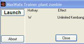 cheat plant vs zombie terbaru trainer cheat pvz unlimited kembang lengkap buatan MasWafa
