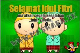 gambar idul fitri kartu ucapan lebaran sms kata kata selamat khutbah hari idul fitri koleksi 1431 H 2010