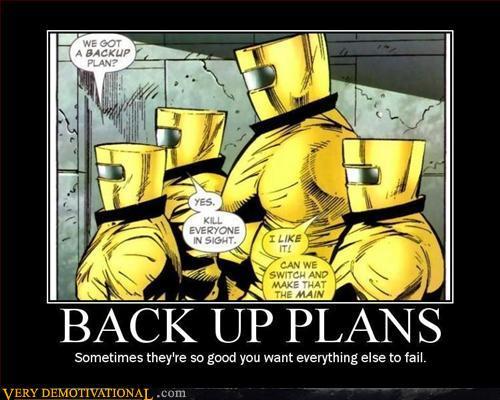 Back Up Plans