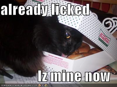 already licked Iz mine now