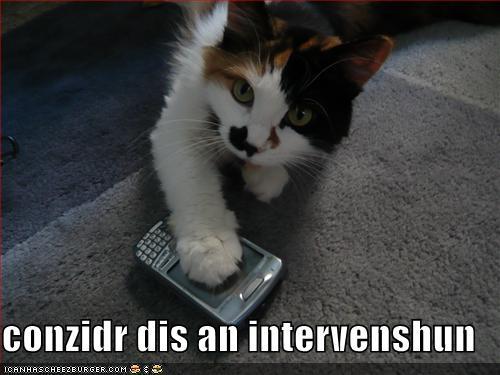 conzidr dis an intervenshun