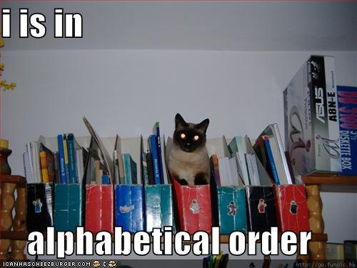 i is in alphabetical order