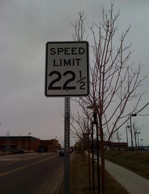 Speed Limit 22 1/2