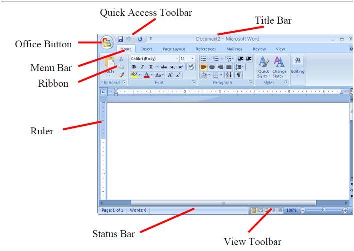 Microsoft Word Toolbar Icons