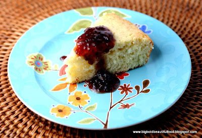 ... Food: Smitten Kitchen's Lime Yogurt Cake with Blackberry Sauce