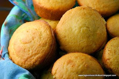 Big, Bold, Beautiful Food: Jumbo Honey Corn Muffins