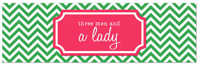 Three Men & A Lady Blog Design