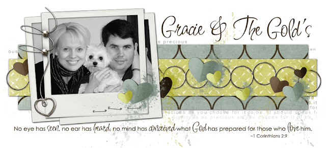 Gracie and the Golds Blog Design