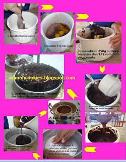 cara cara membuat topping guna teknik double boiled 1 masukkan coklat ...