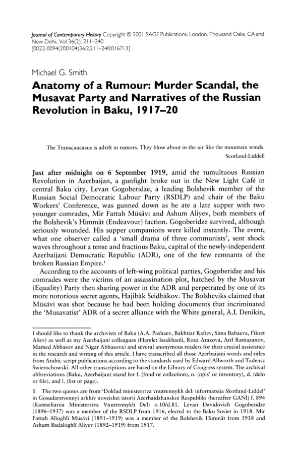 7buruk: Musavat Party and Narratives of the Russian Revolution in ...