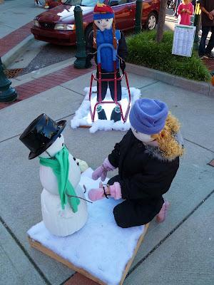 snowman pumpkins