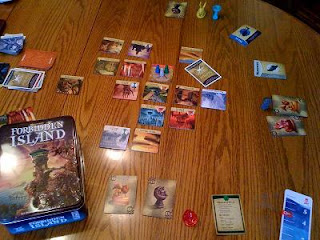 Forbidden Island board game in play