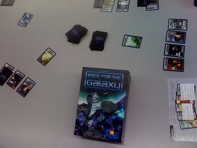Race for the Galaxy card game in play