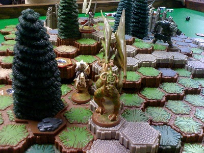 Heroscape with dragon