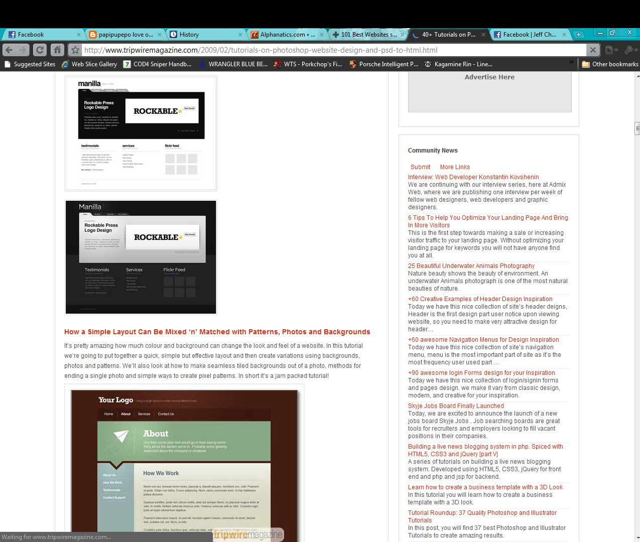 Tutorials To Learn PSD To HTML Conversion