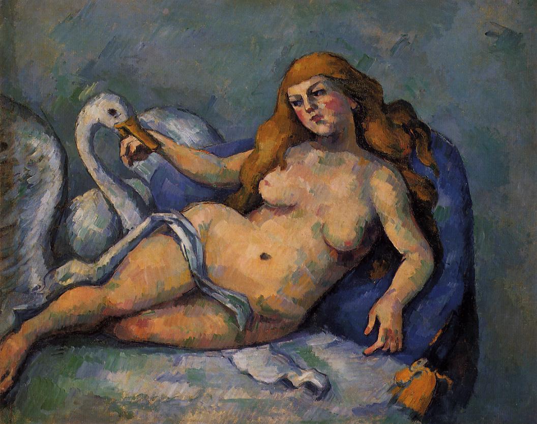 Paul Cézanne Leda-au-cygne-Paul-Cezanne