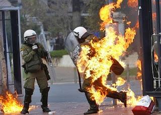 Policiais Gregos Manifestações