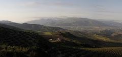 Vista de Loja desde necrópolis en Sierra Martilla