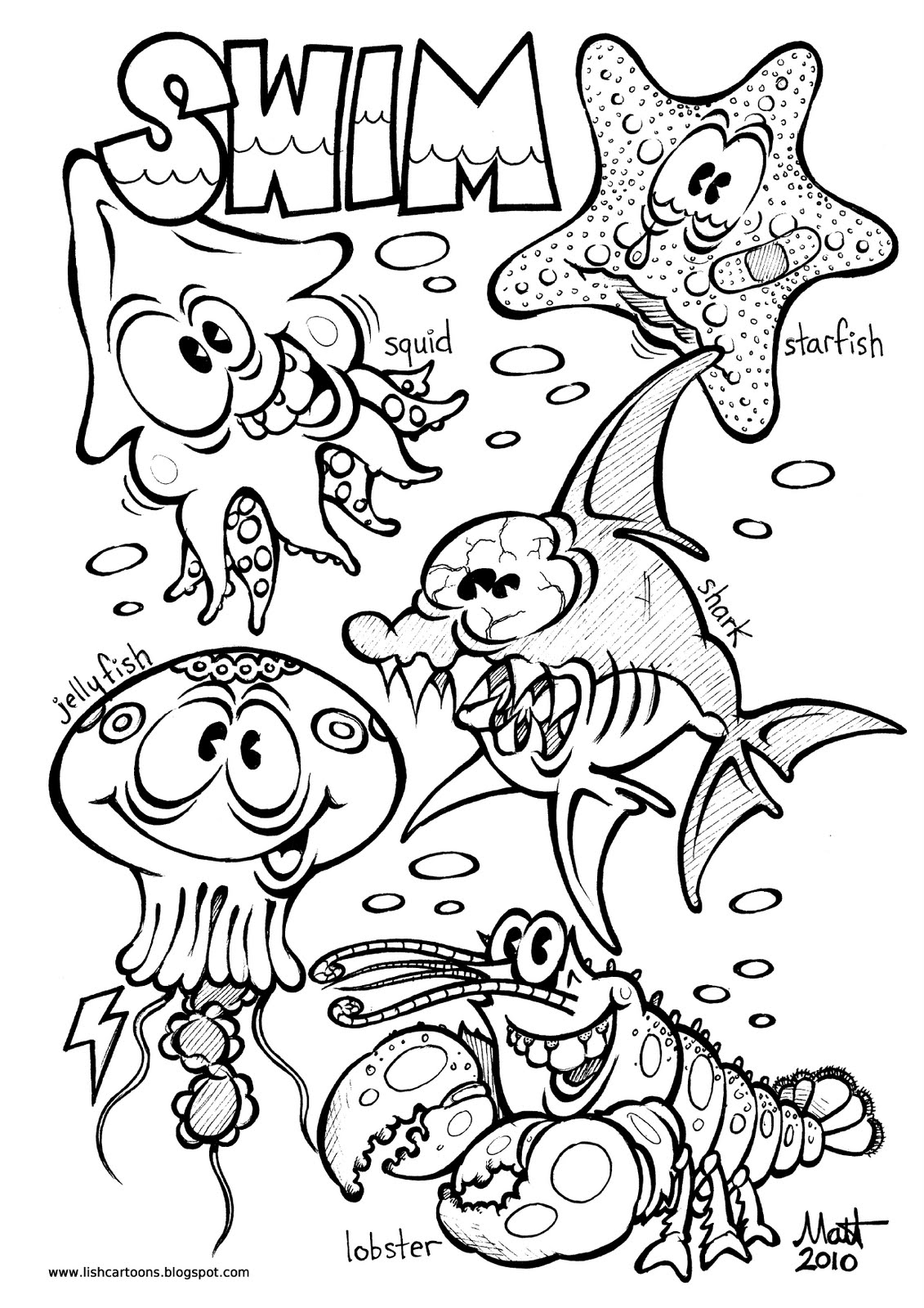 coloring pages of sea creatures laura williams
