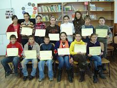 Câștigătorii concursului de desen cu tema: PORTUL POPULAR ROMÂNESC