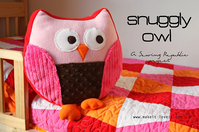 How To Make Cute Owl Pillows : Sharing the Wealth: Snuggly Owl