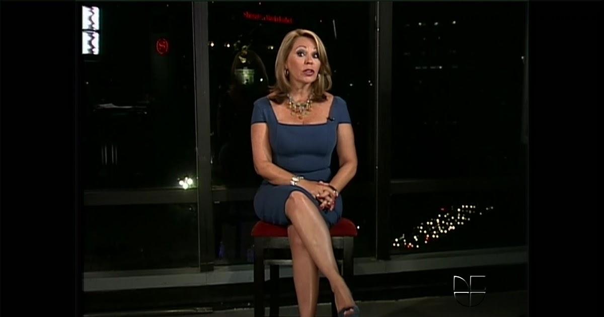 Sexy Maria Elena Salinas From Univision Sexy Leg Cross