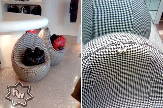 Alexander McQueen egg chairs