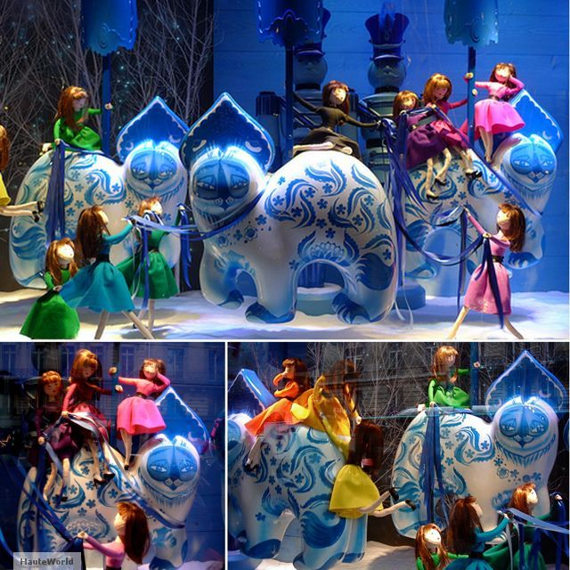 printemps christmas windows dior paris