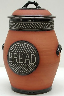terracotta bread crock