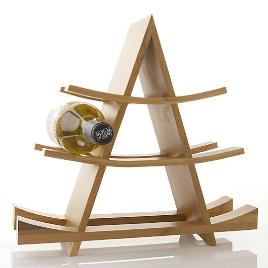 bamboo A-frame wine rack